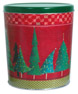 Christmas Trees Create Your Own Custom Gourmet Popcorn Tin with your Logo or Photo