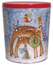 Kissing Reindeer Create Your Own Custom Gourmet Popcorn Tin with your Logo or Photo