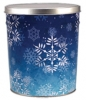 Snowflake Create Your Own Custom Gourmet Popcorn Tin with your Logo or Photo